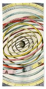 Planetary Orbits, Harmonia Beach Towel by Science Source