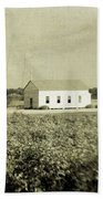 Plantation Church - Sepia Texture Beach Towel