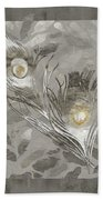 Platinum Feathers, Peacock Feathers Home Fashion Beach Towel