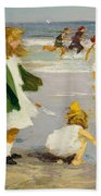 Play In The Surf Beach Towel by Edward Henry Potthast