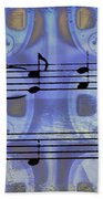Play That Rock And Roll Beach Towel