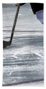 Player And Puck Beach Towel