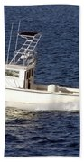 Pleasure Fishing Boat Beach Towel