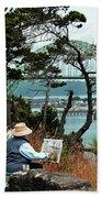 Plein Air Artist Beach Towel