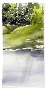 Plein Air At The Pond At Nutimik  Beach Towel