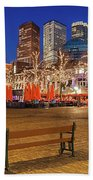 Plein Square At Night - The Hague Beach Towel