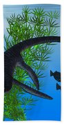 Plesiosaurus Beach Towel