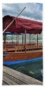 Pletna Boats Of Lake Bled Beach Towel