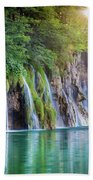 Plitvice Sunburst Beach Towel