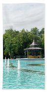 Plovdiv Singing Fountains - Bright Aquamarine Water Dancing Jets And Music Beach Towel