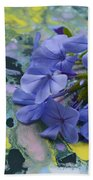 Plumbago Flowers Beach Towel