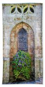 Plumergat, Brittany,france, Parish Church Window Beach Towel