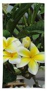 Plumeria In Yellow 2 Beach Towel
