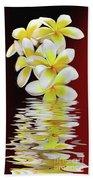 Plumeria Reflections By Kaye Menner Beach Towel