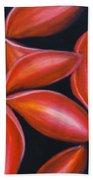 Plumeria Rouge Beach Towel