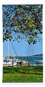 Plymouth Harbor Beach Towel