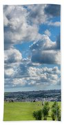 Plymouth Hoe And Smeatons Tower Beach Towel