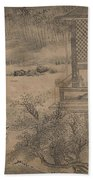Poets Gathering In The Orchid Pavilion Beach Towel