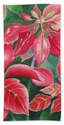 Poinsettia Magic Beach Towel