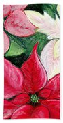 Poinsettia Pastel Beach Towel