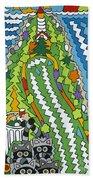 Point Arena Lighthouse Beach Sheet by Rojax Art