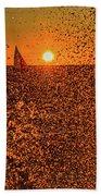 Point Betsie Light Beach Towel