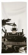 Point Pinos Lighthouse Beach Towel