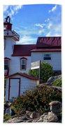 Pointe Au Baril Lighthouse Beach Towel