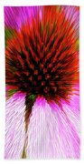 Pointed Flower Beach Towel