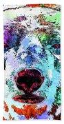 Polar Bear Colored Grunge Beach Towel