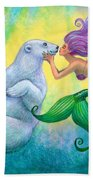 Polar Bear Kiss Beach Towel