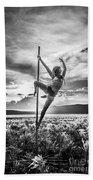 Pole Dance Reach Hdr Beach Towel