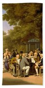 Politicians In The Tuileries Gardens Beach Towel by Louis Leopold Boilly