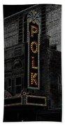 Polk Movie House Beach Towel by David Lee Thompson