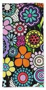 Polka Dot Bouquet Beach Sheet
