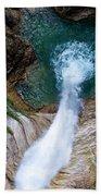 Pollat River Waterfall - Neuschwanstein Castle - Germany Beach Towel