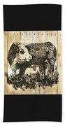 Polled Hereford Bull 11 Beach Towel