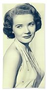 Polly Bergen, Vintage Actress Beach Towel