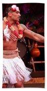Polynesian Warrior Dancer Beach Towel