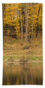 Pond And Woods Autumn 1 Beach Towel