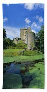 Pond In Front Of A Castle, Blarney Beach Towel