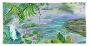 Pond In The Morning Beach Towel