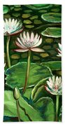 Pond Of Petals Beach Towel
