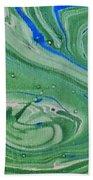 Pond Swirl 1 Beach Towel