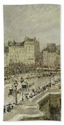 Pont Neuf Snow Effect Beach Towel