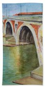 Pont Neuf Sur La Garonne At Toulouse Beach Towel