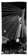 Ponte Octavio Frias De Oliveira At Night - Sao Paulo, Brazil Beach Towel