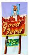 Poodle Dog Diner Beach Towel