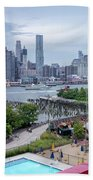 Pool With A View, Brooklyn, New York #130706 Beach Towel