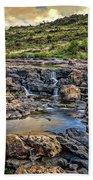 Pools And Waterfalls Beach Towel